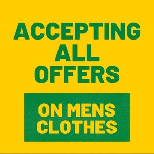 *** MENS CLOTHING SALE --->